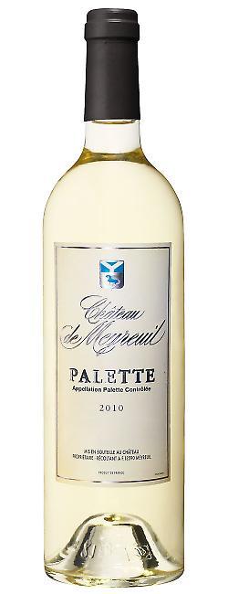 Bouteille de Palette aoc blanc, Château de Meyreuil
