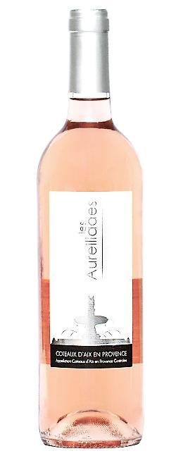 Bouteilles Les Aureillades, Coteaux d'Aix en Provence Rosé Bio