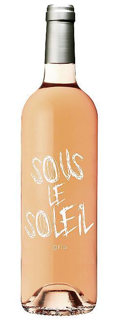 Bouteille de Sous le Soleil, Gris, vin de pays des Bouches du Rhône